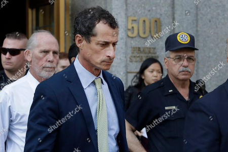 Former Congressman Anthony Weiner leaves federal court following his sentencing, in New York. Weiner was sentenced to 21 months in a sexting case that rocked the presidential race
