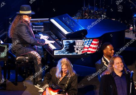 """Peter """"Keys"""" Pisarczyk, Mark """"Sparky"""" Matejka, Robert Randolph and Warren Haynes perform at """"One More For The Fans - Celebrating The Songs & Music Of Lynyrd Skynyrd"""" concert event at The Fox Theatre, in Atlanta"""