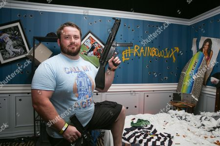 Joe P. Harris poses after playing Tom Clancy's Rainbow Six Siege at the Ubisoft event during Comic-Con, in San Diego, Calif