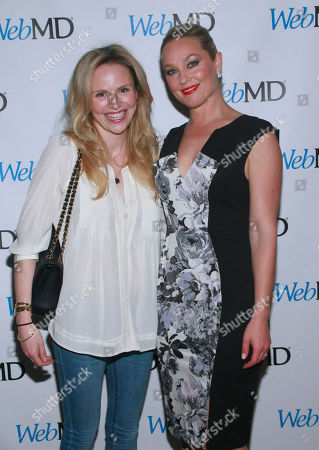 In this image release, Elisabeth Rohm and Rosie Pope celebrate healthy living at WebMD's Spring Innovation event in New York City