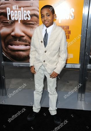 "Tylen Jacob Williams arrives at the world premiere of ""Peeples"" at the ArcLight Hollywood on in Los Angeles"