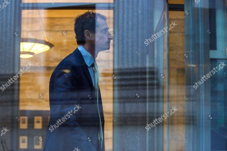 Stock Photo of Former Congressman Anthony Weiner (D-N.Y.) arrives at federal court for his sentencing hearing in a sexting scandal, in New York