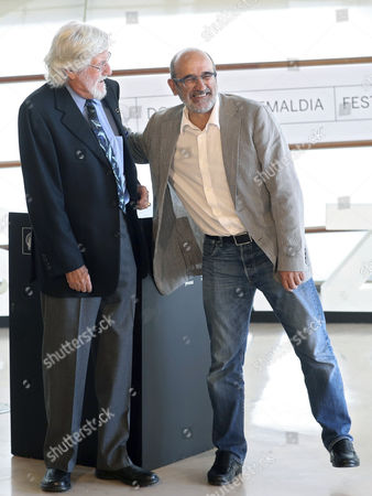 Stock Photo of Jean Jacques Mantello and Jean Michel Cousteau