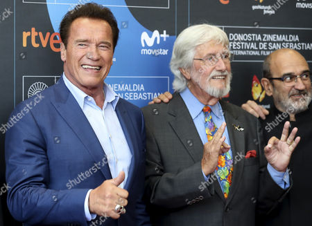 Arnold Schwarzenegger and Jean Michel Cousteau