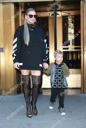 Editorial picture of Fergie Duhamel out and about, New York, USA - 25 Sep 2017