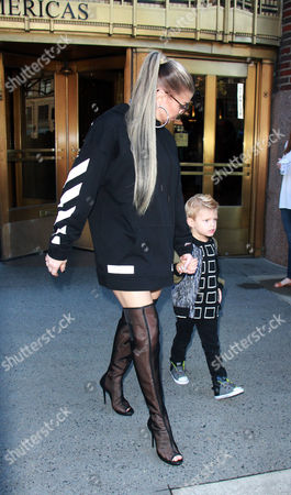 Stock Picture of Fergie and Axl Jack Duhamel
