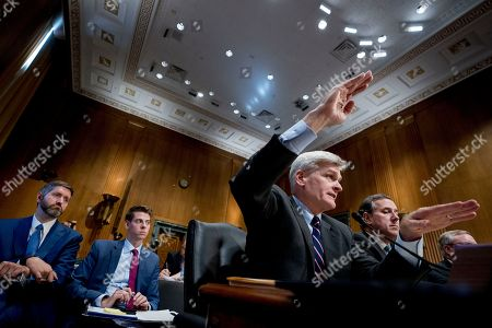 Bill Cassidy, Rick Santorum. Senator Bill Cassidy, R-La., second from right, accompanied by Former Penn. Senator Rick Santorum, right, testifies during a Senate Finance Committee hearing to consider the Graham-Cassidy healthcare proposal, on Capitol Hill, in Washington