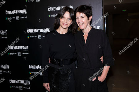 "Actress Juliette Binoche and novelist Christine Angot attend a premiere of ""Un Beau Soleil Interieur"" in Paris, France"