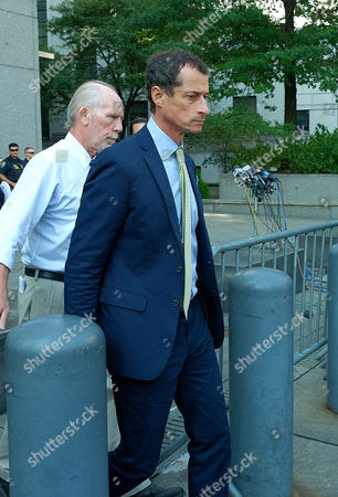 Editorial image of Anthony Weiner sexting sentencing hearing, New York, USA - 25 Sep 2017