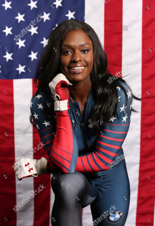 United States Olympic Winter Games bobsledder Aja Evans poses for a portrait at the 2017 Team USA Media Summit, in Park City, Utah