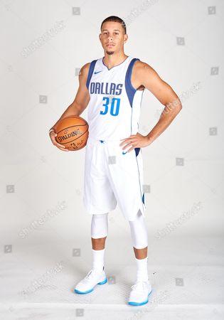 Stock Photo of Dallas Mavericks guard Seth Curry #30 poses during the Dallas Mavericks Media Day held at the American Airlines Center in Dallas, TX