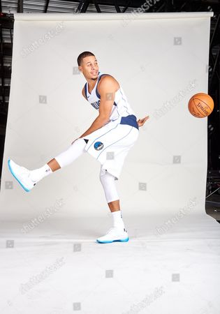 Stock Picture of Dallas Mavericks guard Seth Curry #30 poses during the Dallas Mavericks Media Day held at the American Airlines Center in Dallas, TX