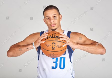 Stock Image of Dallas Mavericks guard Seth Curry #30 poses during the Dallas Mavericks Media Day held at the American Airlines Center in Dallas, TX