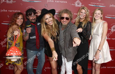 Kari Karte, left and Sammy Hagar arrives at the 13th annual Stuart House benefit at John Varvatos Boutique, in West Hollywood, Calif