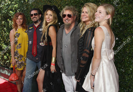 Sammy Hagar, left and Kari Karte arrives at the 13th annual Stuart House benefit at John Varvatos Boutique, in West Hollywood, Calif