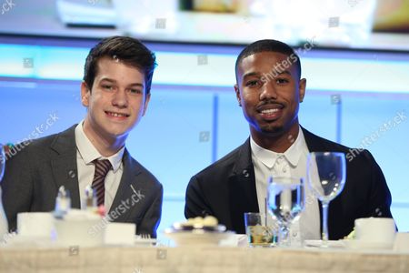 From left, actors Liam James and Michael B. Jordan pose during the Casting Society of America 29th Annual Artios Awards held at the Beverly Hilton Hotel, in Beverly Hills, Calif