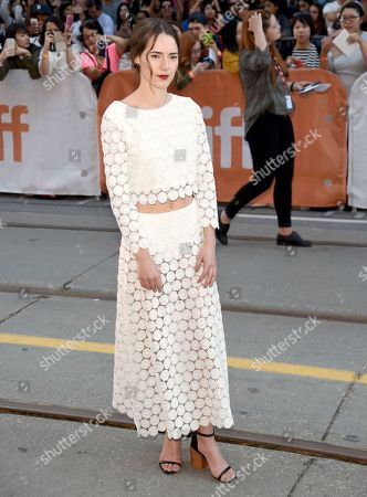 """Stock Photo of Caren Pistorius arrives at the """"Denial"""" premiere on day 4 of the Toronto International Film Festival at the Princess of Wales Theatre, in Toronto"""