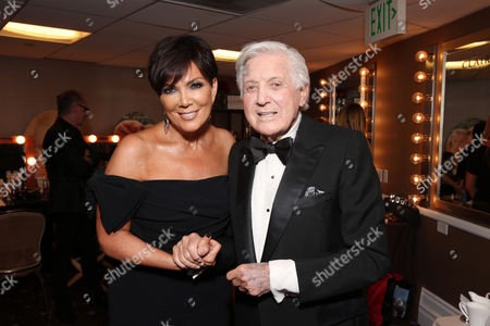 IMAGE DISTRIBUTED FOR EFG - Kris Jenner and Monty Hall seen at The 40th Annual Daytime Emmy Awards Backstage Clairol Professional Hair Studio, on Sunday, June, 16, 2013 in Beverly Hills