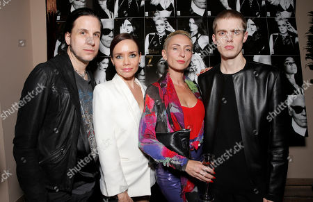 Stock Image of Todd Lynn, Jessica Trent, Barbara Grispini and Lee Roach attend the 7Hollywood Fantasy Issue Launch Celebration on in Los Angeles