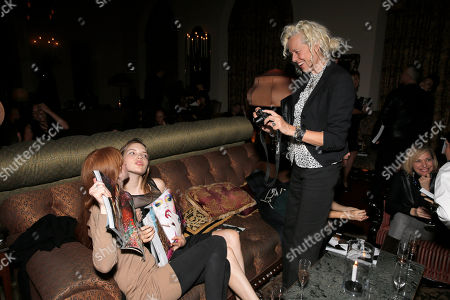 Amanda Smith and Avery Tharp and Mary Ellen Mark attend the 7Hollywood Fantasy Issue Launch Celebration on in Los Angeles
