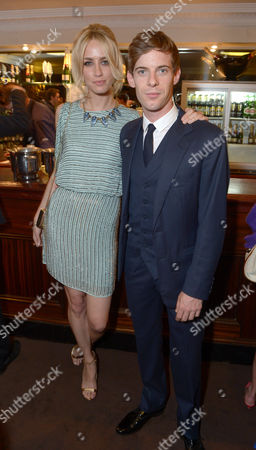 "Ruta Gedmintas, Luke Treadway is seen at the pre theatre reception for ""A Curious Night at the Theatre"" in London on"