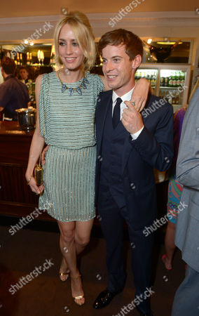 """Ruta Gedmintas, Luke Treadway is seen at the pre theatre reception for """"A Curious Night at the Theatre"""" in London on"""