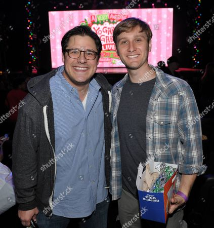 Rich Sommer, left, and Aaron Staton are seen at A Very Awesome Yo Gabba Gabba! Live! Holiday Show, on at Nokia Theater, L.A. Live in Los Angeles