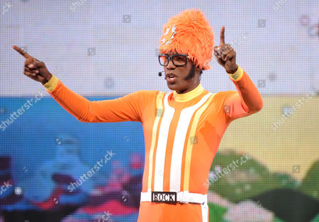 Stock Image of Lance Robertson DJ Lance Rock is seen at A Very Awesome Yo Gabba Gabba! Live! Holiday Show, on at Nokia Theater, L.A. Live in Los Angeles