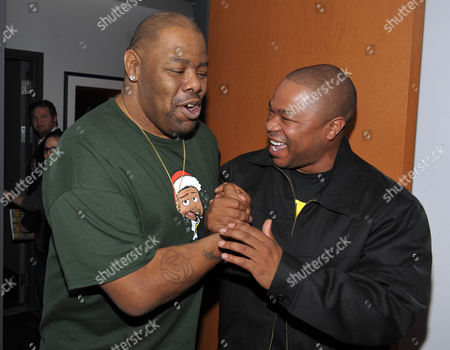 Stock Photo of Marcel Theo Hall, Alvin Joiner Biz Markie, left, and Xzibit are seen at A Very Awesome Yo Gabba Gabba! Live! Holiday Show, on at Nokia Theater, L.A. Live in Los Angeles