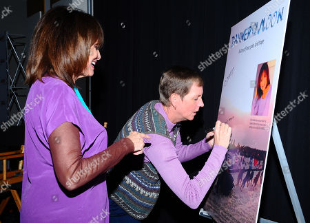 Valerie Harper, left, and Cindy Abbott attend the AARP Movies for Grownups Film Showcase at Regal Cinemas L.A. LIVE on in Los Angeles