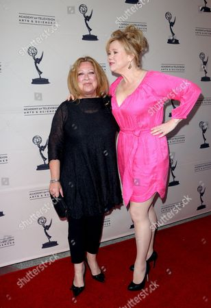 "MAY 16: Comediennes Elayne Boosler (L) and Caroline Rhea arrive at the Academy Of Television Arts & Sciences Presents: ""A Conversation With Ladies Who Make Us Laugh,"" an evening with the ladies who have made an outstanding contribution in the field of comedy, held at the Leonard H. Goldenson Theatre on in North Hollywood, California. A live webcast of the discussion can be viewed on the Academy of Television Arts & Sciences website, www.emmys.com and www.emmys.tv"
