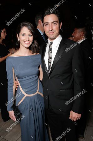 Michelle Mulitz and Ben Feldman seen at the AMC/IFC Emmy After Party, in West Hollywood, Calif