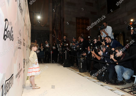 Stock Picture of Sydney Keiser Sydney 'Mayhem' Keiser, founder of Fashion by Mayhem, debuts a dress from her 'Little Mayhem for J. Crew' collection at the Variety Power of Women event, in New York, where she was honored by Barbie