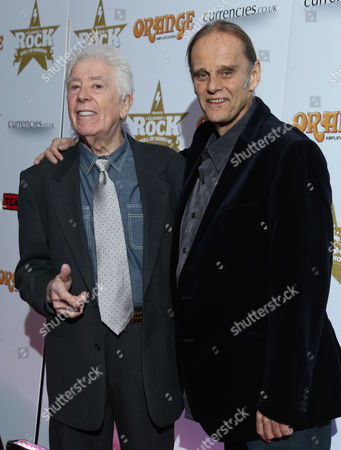 John Mayall and Walter Trout, right arrive at the Classic Rock Roll of Honour awards 2013 at the Camden Roundhouse in north London