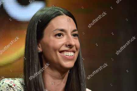 Jade Catta-Preta speaks on stage during the 'Manhattan Love Story'' panel at the Disney/ABC Television Group 2014 Summer TCA at the Beverly Hilton Hotel, in Beverly Hills, Calif