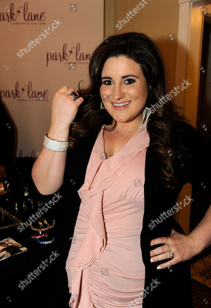 Actress KayCee Stroh visits Park Lane jewelry at the Fender Music lodge during the Sundance Film Festival, in Park City, Utah