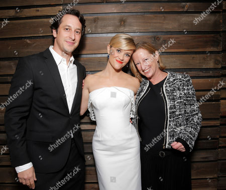 Fox Searchlight's VP of Production David Greenbaum, Reese Witherspoon and Fox Searchlight President of Production Claudia Lewis attend the Los Angeles Premiere of Fox Searchlight's 'Wild' at AMPAS Samuel Goldwyn Theater on in Los Angeles