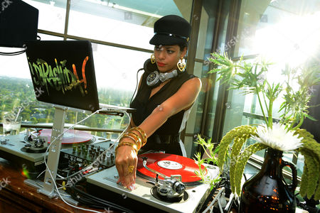 DJ Rashida spins at the FOX Summer TCA All-Star Party, on in West Hollywood, Calif