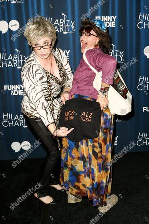 Stock Image of Jessica Chaffin (as 'Ronna Glickman'), left, and Jamie Denbo (as 'Beverly Kahn') attend Hilarity for Charity's Annual Variety Show: James Franco's Bar Mitzvah held at The Hollywood Palladium, in Los Angeles