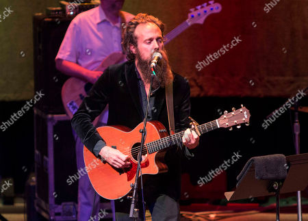 Samuel Beam as Iron & Wine performs at The Tabernacle, in Atlanta
