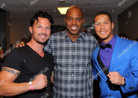 Rick Medina, Kevin Frazier and Najee De-Tiege seen at Hartbeat Weekend Events - All Star Comedy Show at Chelsea Theatre at The Cosmopolitan on in Las Vegas, Nevada