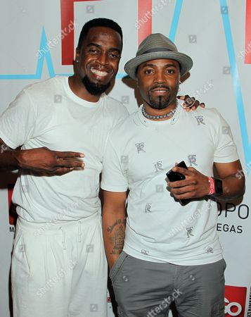 Stock Picture of Teddy Riley and Damion Hall seen at Hartbeat Weekend Events - All Star Comedy Show at Chelsea Theatre at The Cosmopolitan on in Las Vegas, Nevada