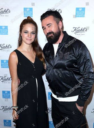 Alexis Knapp, left, and President of Kiehl's U.S. Chris Salgardo attend the Kiehl's Earth Day Celebration with Nikki Reed to Benefit Recycle Across America at Kiehl's Since 1851 on in Santa Monica, Calif