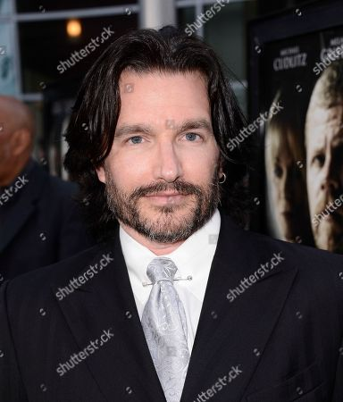 """Writer Frank John Hughes arrives on the red carpet at the premiere of the feature film """"Dark Tourist"""" at the ArcLight Cinemas on in Los Angeles"""