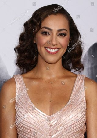 """Stock Photo of Elena Goode arrives at the Los Angeles premiere of """"Straight Outta Compton"""" at the Microsoft Theater on"""