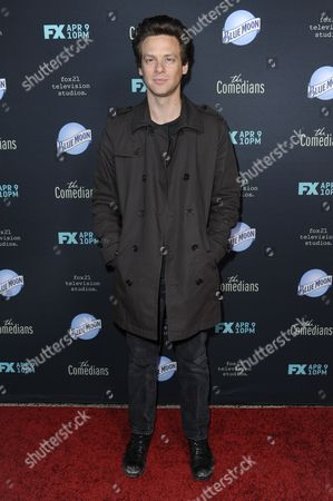 """Stock Picture of Jacob Pitts arrives at the LA Premiere of FX's """"The Comedians"""", in Santa Monica, Calif"""