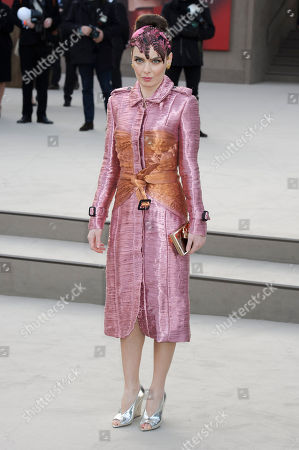 Nil Karaibrahimgil arrives for the Burberry Prorsum fashion collection during London Fashion Week, at a central London Venue, London