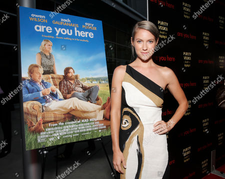 Stock Picture of Laura Ramsey attends the premiere of 'Are You Here' at ArcLight Hollywood on in Hollywood, California