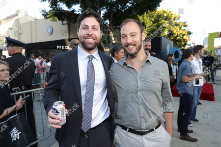 Executive Producer/Writer Ariel Shaffir and Writer/Producer Evan Goldberg seen at the Los Angeles Premiere of Columbia Pictures' SAUSAGE PARTY at the Regency Village Theater, in Los Angeles