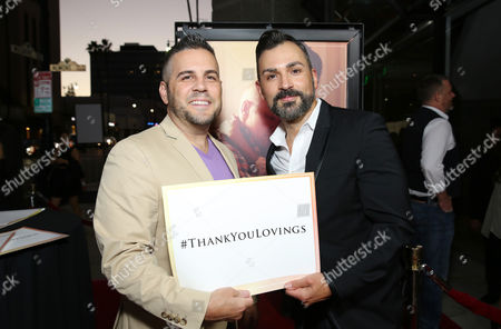 Stock Image of Jeff Zarrillo and Paul Katami seen at the Los Angeles Premiere of Focus Features' LOVING at the Samuel Goldwyn Theater, in Beverly Hills, Calif